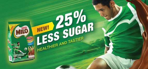 MILO Now with 25% Less Sugar