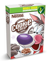 Cookie crisp breakfast cereal